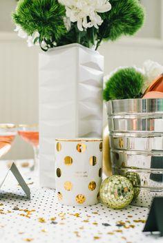 Love this gold metallic Kate Spade mug.