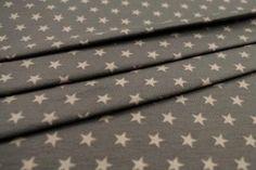 Baumwoll-Jersey - Sterne - Grau/Beige - (30% Lagerräumung X04)