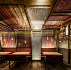 Relax & Consume winner: Pakta Restaurant by El Equipo Creativo. Traditional Peruvian looms on the walls and ceiling