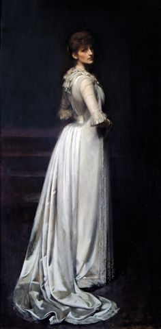 Violet lindsay , Duchess of Rutland, 1889 by Sir James Jebusa Shannon (1862-1923)