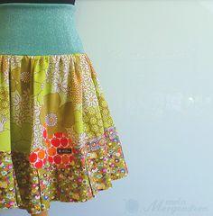 glitter.green.skirt handmade by mein Morgenstern