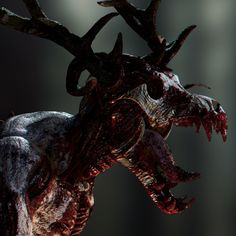 a wendigo concept workflow practice, Guillermo Urias Dark Creatures, Mythical Creatures Art, Mythological Creatures, Fantasy Creatures, Monster Design, Monster Art, Arte Horror, Horror Art, Myths & Monsters