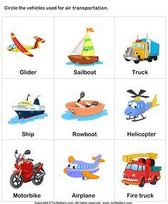 Air transport - TurtleDiary.com