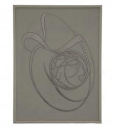 Domenico Bianchi, Untitled, 2012, 80 x 60 cm, wax and palladium on board and canvas