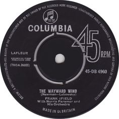 Frank Ifield - The Wayward Wind (Columbia) No.1 (Jan '63) > https://www.youtube.com/watch?v=puLdyvepTu4
