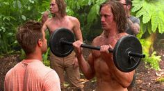 Alexander Skarsgard Tarzan Workout (Behind the Scenes) Blu-Ray Clip HD Fun Model Poses, Alexander Skarsgard Tarzan, Tarzan Movie, Alexander Skarsgård, Behind The Scenes, Muscle Definition, Workout, Biceps, Human Body