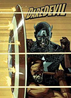Captain America and DareDevil by Alex Maleev