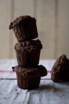 Chocolate Chunk Chocolate Muffins