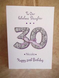 Handmade Personalised Birthday Card 18th 21st 30th 40th 50th Mum Sister Daughter | eBay