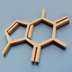 Wood Caffeine Molecule Wall Hanging Chemistry Geek Coffee Addict Abstract Gift. $20.00, via Etsy.
