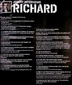 Jeremy interviews Richard