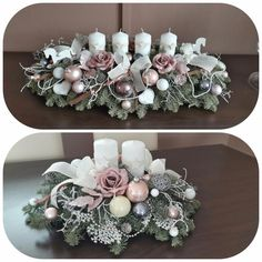 Skupina - Vianoce a zimné inšpirácie Christmas Trends, Christmas Christmas, Shabby Chic Christmas, Christmas Mantels, Rustic Chri… Rose Gold Christmas Decorations, Christmas Flower Arrangements, Christmas Flowers, Elegant Christmas, Xmas Decorations, Christmas Diy, Christmas Wreaths, Christmas Trends, Christmas Mantels