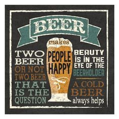 Craft beer sign with clever beer related slogans and quotes