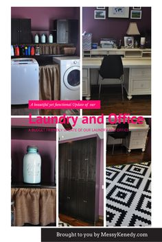 Come see how our beautiful, but budgeted laundry room and office upgrade happened!