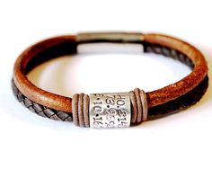 Mens bracelet Fathers Day Bracelet Leather Bracelet Mens