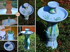20 Terra Cotta Clay Pot DIY Project for Your Garden - Clay Pot Bird Bath #garden, #decor
