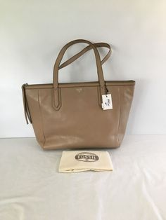 Fossil Womens Sydney Shopper Taupe Tote Handbag Purse Bag  #Fossil #TotesShoppers