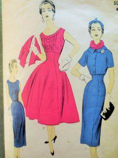 Vintage Advance 6780 Sewing Pattern, 1950s Dress Pattern, Sheath Dress Pattern, Full Skirt, Bust 32, Bolero Jacket, 1950s Sewing Pattern by sewbettyanddot on Etsy