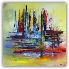 Chicago abstraktes Wandbild Gemälde Bild Kunst blau rot gelb #abstraktekunst #abstraktemalerei #abstrakt #acrylbilder #gemäldeabstrakt #abstraktesgemälde #abstractart #abstractpainting #abstract #painting #gemälde #bilderabstrakt