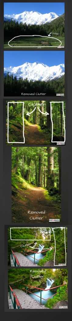 Finding clutter and removing it will immediately improve your landscape photography