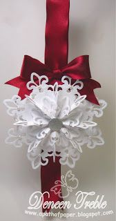 3D Snowflake Tutorial - this is the Fleur de Lis ornament found on youtube and Split Coast Stampers