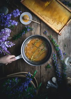Rosemary Simple Syrup by Eva Kosmas Flores This rosemary simple syrup can be made with either honey or granulated sugar, and adds the most delicious floral and herbal hint to any beverage! Rosemary Simple Syrup, Healty Dinner, Joy Of Cooking, Easy Family Meals, Granulated Sugar, Sweet Recipes, Herbalism, Food Photography, Ethnic Recipes