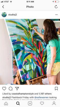 Abstract Art as well as I. – Buy Abstract Art Right Abstract Flowers, Abstract Art, Tropical Art, Arte Pop, Art Moderne, Acrylic Art, Art Techniques, Painting Inspiration, Diy Art