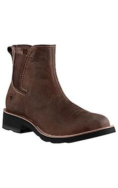Ariat Ambush Men's Distressed Brown Round Toe Shoe Boot