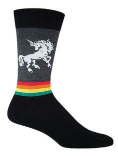 cool unicorn rainbow novelty socks for men by socksmith