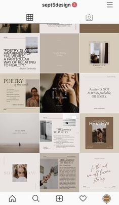 This instagram feed templates for creative writers, poets, storytellers, book lovers, and bloggers. If you really want to make your instagram feed and social media post looks professional and beautiful this template pack is you need. Fully customizable on both CANVA and Adobe Photoshop.  #instagramfeedideas #instagramfeed #instafeed #writers #writer #writerscommunity #writersofig #poet #poetry #poem #poems #writeraesthetic #poetryaesthetic #aesthetic #socialmediadesign #socialmediatemplates Flux Instagram, Site Instagram, Instagram Feed Ideas Posts, Instagram Feed Layout, Instagram Grid, Instagram Design, Instagram Social Media, Ig Feed Ideas, Best Instagram Feeds