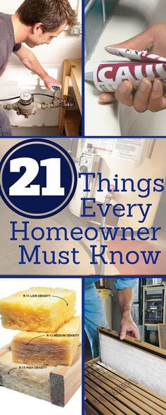 """21 things every homeowner must know - essential tips and tricks to save money, solve problems, and improve your home. get more tips in our new book, <i><a href=""""http://www.readersdigeststore.com/100-things-every-homeower-must-know/b/10844217011?utm_source=fhm slideshow"""