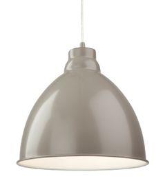 Firstlight 'Union' 1 Light Metal Pendant Ceiling Light, Mushroom - 2311MU