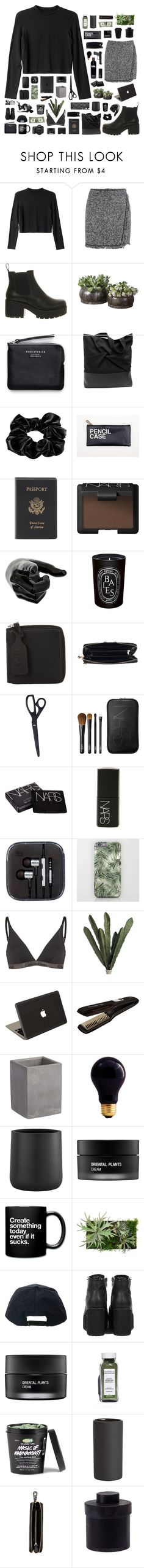 """""""Karma"""" by blood-drops ❤ liked on Polyvore featuring Monki, Vagabond, Acne Studios, River Island, Royce Leather, NARS Cosmetics, Diptyque, HAY, Calvin Klein and Jamie Clawson"""