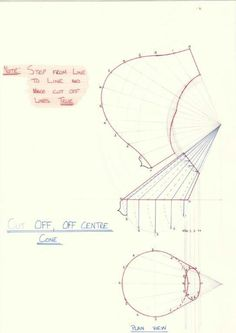 Cut off Off centre Cone - Radial Line method Sheet Metal Drawing, Sheet Metal Work, Welding Tips, Welding Projects, Grandfather Clock Kits, Draw Diagram, Sheet Metal Fabrication, Interesting Drawings, Metal Forming