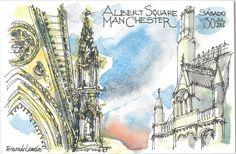 "os meus desenhos: Manchester 3, os ""postais ilustrados"""