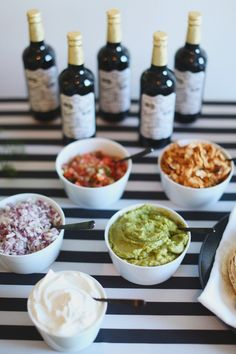 Every Super Bowl party needs a taco bar / Photography By / http://hellolovephoto.com,Florals By / http://petalfloraldesign.com/