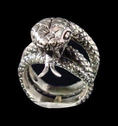 Stainless Steel King Cobra Ring from Jax Biker Jewellery by DaWanda.com