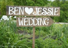 Wood Wedding Sign is hand painted in white on reclaimed wood and comes with one ft. Accent colors for hearts available. Arrow is optional. This wood wedding sign is large, each letter is and the wood is wide. Wood Wedding Decorations, Wood Wedding Signs, Rustic Wedding Venues, Wedding Signage, Wedding Advice, Plan Your Wedding, Wedding Planning, Wedding Ideas, Trendy Wedding