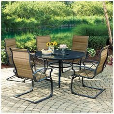 HD wallpapers home styles 5 piece biscayne mesh aluminum patio dining set