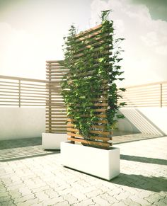 This concept consists of a mobile planter base made from a solid piece of cast concrete. The bottom of the base is inset to accommodate four 360 deg. castors. The vertical wood structure forms a con...