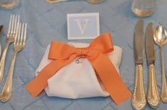 Diaper Napkins     Bump Smitten: Real Baby Shower: Blue & Orange