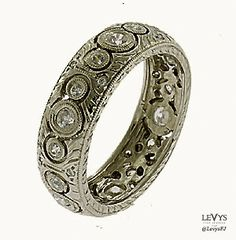 WB-291 #InfinityLine #vintagestyle #weddingring #stackable