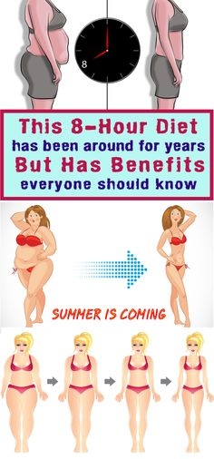 Find the 8 hour window that works for you, and eat all of your meals then. For the next 16 hours, let your body do the work and watch your fat melt away! 8 Hour Diet, Fitness Diet, Health Fitness, Weight Loss Tips, Lose Weight, Healthy Life, Healthy Living, Total Body, Transformation Body