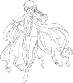 Karen Von Mermaid Melody Lineart By Me Original Link Free For Colour But Show Your Results Credit