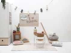 Notebook - Washable Rug by Lorena Canals US. Shop unique, cool products on Fy ✓ Free, fast shipping ✓ 28 day returns ✓ Rated / 5 by of shoppers Lorena Canals Rugs, Kids Cafe, Kids Area Rugs, Washable Area Rugs, Vintage School, Cozy Room, Cafe Interior, Interior Design, Handmade Pillows