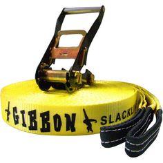 Gibbon Slacklines Classic Slackline - at Sierra. Family Activities, Snowboarding, Outdoor Gear, Yellow, Celebrities, Classic, Fitness, Fun, Bags