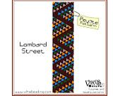 Lombard Street - Peyote Bracelet Pattern  - INSTANT DOWNLOAD pdf - Buy 2 Patterns Get 1 Free with coupon codes