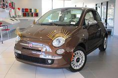 The new Fiat 500 with eyelashes