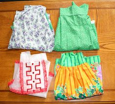 4 Nice Vintage Collectible Kitchen Aprons  by estatesalegems, $9.50