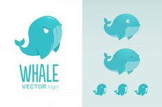 Vector Whale Logo Template by dimpo ART on @creativemarket